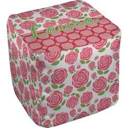 Roses Cube Pouf Ottoman (Personalized)