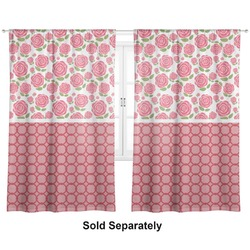 "Roses Curtains - 56""x80"" Panels - Lined (2 Panels Per Set) (Personalized)"