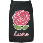 Roses Black Pet Shirt (Personalized)