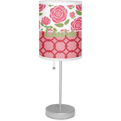 "Roses 7"" Drum Lamp with Shade (Personalized)"