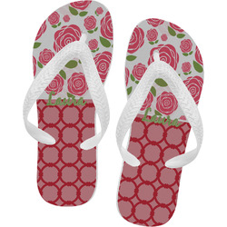 Roses Flip Flops - XSmall (Personalized)