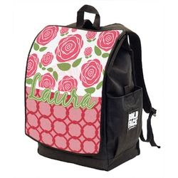 Roses Backpack w/ Front Flap  (Personalized)