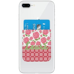 Roses Genuine Leather Adhesive Phone Wallet (Personalized)
