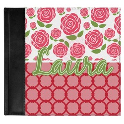 Roses Genuine Leather Baby Memory Book (Personalized)