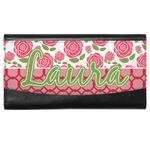 Roses Genuine Leather Ladies Wallet (Personalized)