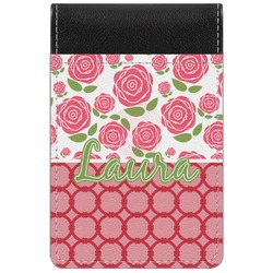 Roses Genuine Leather Small Memo Pad (Personalized)
