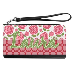 Roses Genuine Leather Smartphone Wrist Wallet (Personalized)