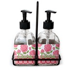 Roses Soap & Lotion Dispenser Set (Glass) (Personalized)