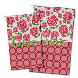 Roses Golf Towel - Full Print w/ Name or Text