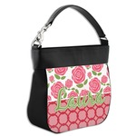 Roses Hobo Purse w/ Genuine Leather Trim (Personalized)