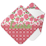 Roses Hooded Baby Towel (Personalized)