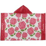 Roses Kids Hooded Towel (Personalized)