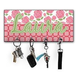 Roses Key Hanger w/ 4 Hooks (Personalized)