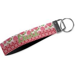Roses Wristlet Webbing Keychain Fob (Personalized)