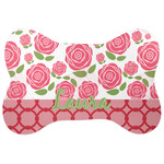 Roses Bone Shaped Dog Food Mat (Personalized)