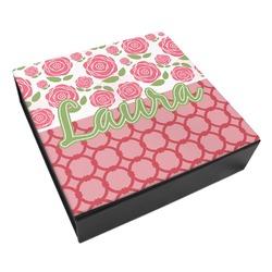 Roses Leatherette Keepsake Box - 3 Sizes (Personalized)