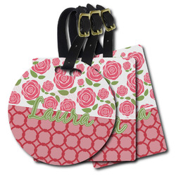 Roses Plastic Luggage Tags (Personalized)
