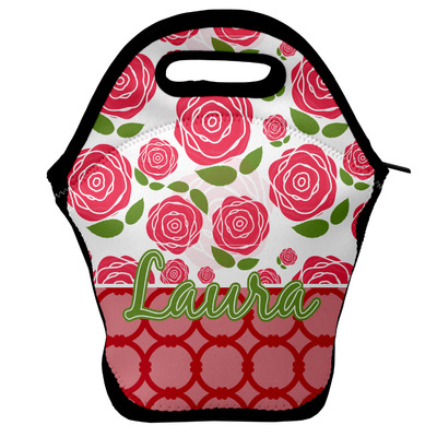 Roses Lunch Bag w/ Name or Text