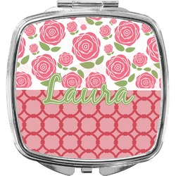 Roses Compact Makeup Mirror (Personalized)