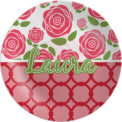 Roses Melamine Plate (Personalized)