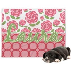 Roses Minky Dog Blanket - Large  (Personalized)