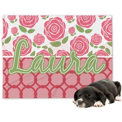 Roses Minky Dog Blanket (Personalized)