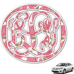 Roses Monogram Car Decal (Personalized)