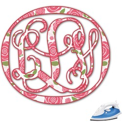 Roses Monogram Iron On Transfer (Personalized)