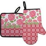 Roses Oven Mitt & Pot Holder (Personalized)