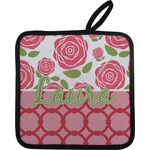 Roses Pot Holder w/ Name or Text