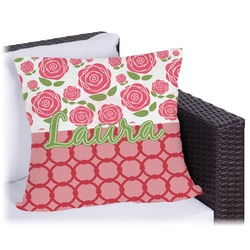 Roses Outdoor Pillow (Personalized)