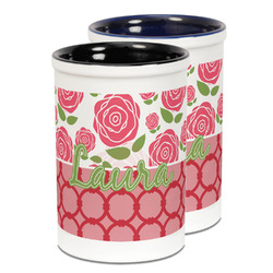 Roses Ceramic Pencil Holder - Large