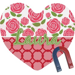 Roses Heart Fridge Magnet (Personalized)