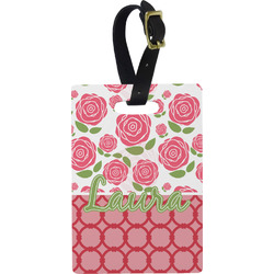 Roses Rectangular Luggage Tag (Personalized)