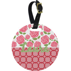 Roses Round Luggage Tag (Personalized)