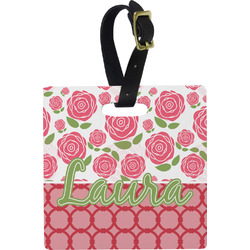 Roses Square Luggage Tag (Personalized)