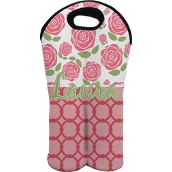 Roses Wine Tote Bag (2 Bottles) (Personalized)