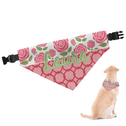Roses Dog Bandana - Large (Personalized)