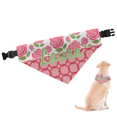 Roses Dog Bandana (Personalized)