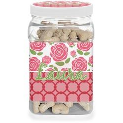 Roses Dog Treat Jar (Personalized)