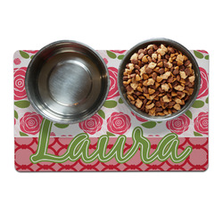 Roses Dog Food Mat (Personalized)