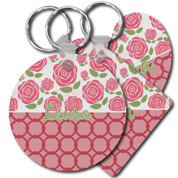 Roses Plastic Keychains (Personalized)