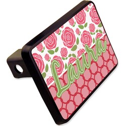 """Roses Rectangular Trailer Hitch Cover - 2"""" (Personalized)"""