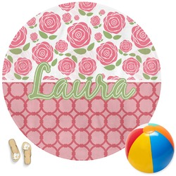 Roses Round Beach Towel (Personalized)