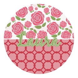 Roses Round Decal - Custom Size (Personalized)