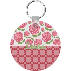 Roses Round Keychain (Personalized)