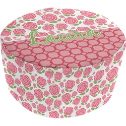 Roses Round Pouf Ottoman (Personalized)