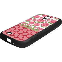 Roses Rubber Samsung Galaxy 4 Phone Case (Personalized)