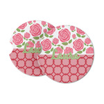Roses Sandstone Car Coasters (Personalized)