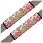 Roses Seat Belt Covers (Set of 2) (Personalized)